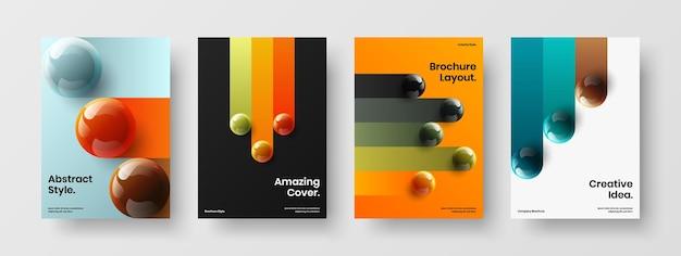 Набор векторных концепций дизайна разноцветного фирменного стиля формата а4