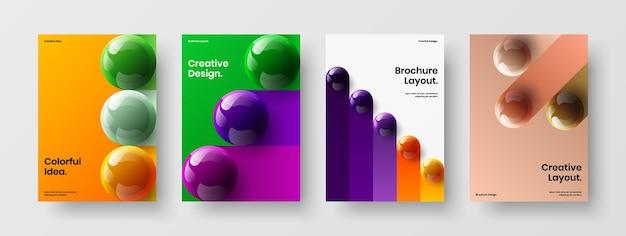 Multicolored corporate identity a4 vector design template bundle