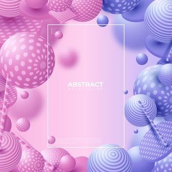 Разноцветные декоративные шары. абстрактные векторные иллюстрации.
