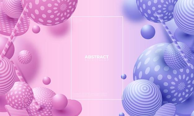 色とりどりの装飾ボール。抽象的なベクトルイラスト。