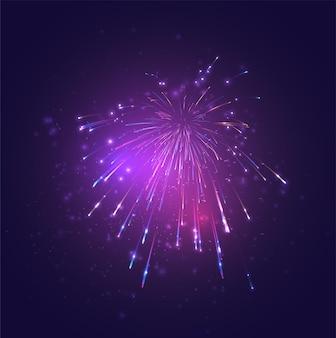 Разноцветный фейерверк, взрыв радости в небе