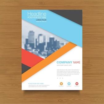 Multicolored geometric brochure