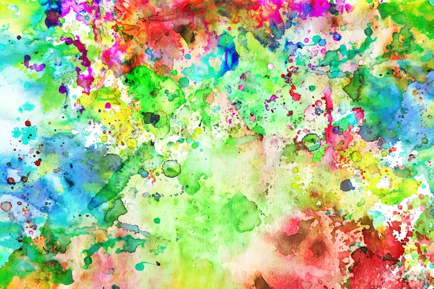 Multicolored hand painted background