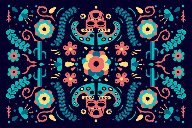 Multicolored mexican background