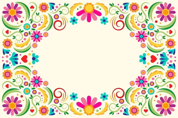 Multicolored mexican wallpaper theme
