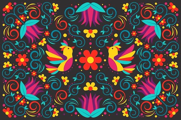 Multicolored mexican wallpaper