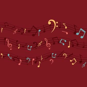 Значок многоцветной ноты