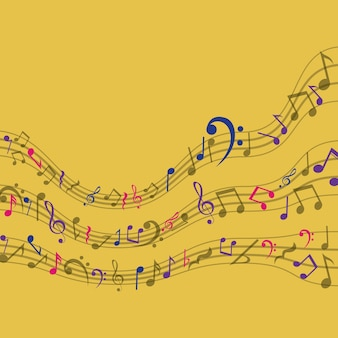 Multicolored music note icon