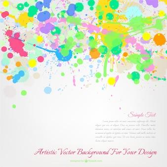 Vernice multicolore spruzzi vettore