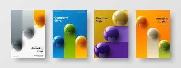 여러 가지 빛깔의 현실적인 분야 소책자 그림 모음