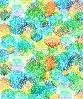 Разноцветные снежинки абстрактный фон векторные иллюстрации