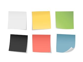 Multicolored sticky notes set