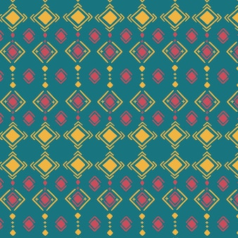 Multicolored traditional songket pattern Premium Vector