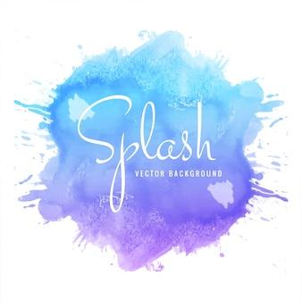 Multicolored watercolor splash blot design