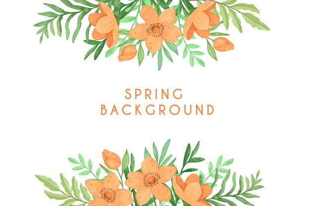 Multicolored watercolor spring background