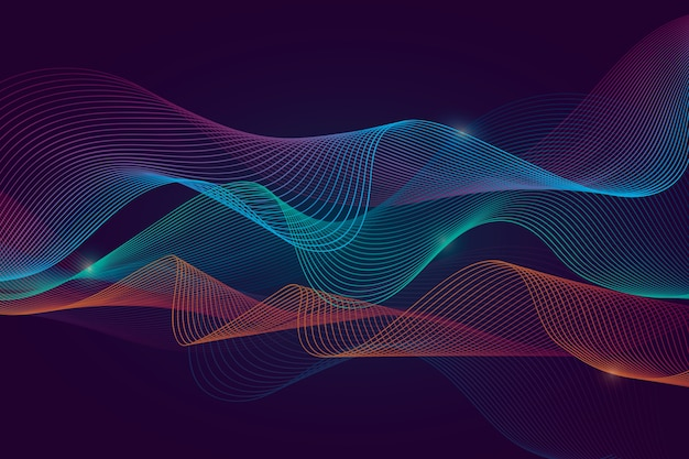 Multicolored wavy background
