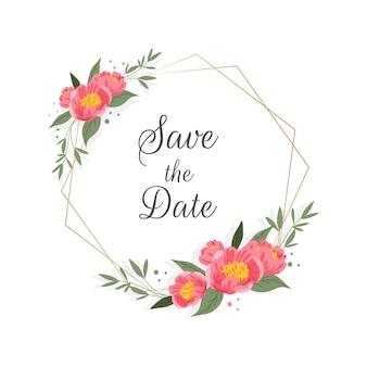 Multicolored wedding floral frame