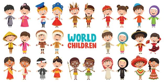 Мультикультурные персонажи мира
