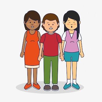 Multicultural people avatars illustration