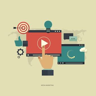 Multimedia background design
