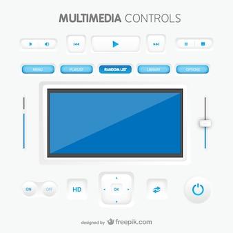 Multimedia controls interface