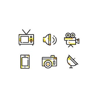 Multimedia icon bundle