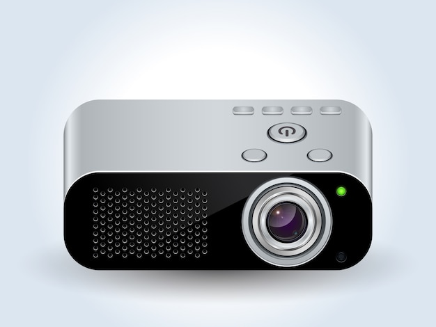 Multimedia projector realistic icon