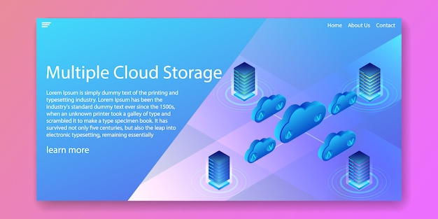 Multiple cloud storage landing page