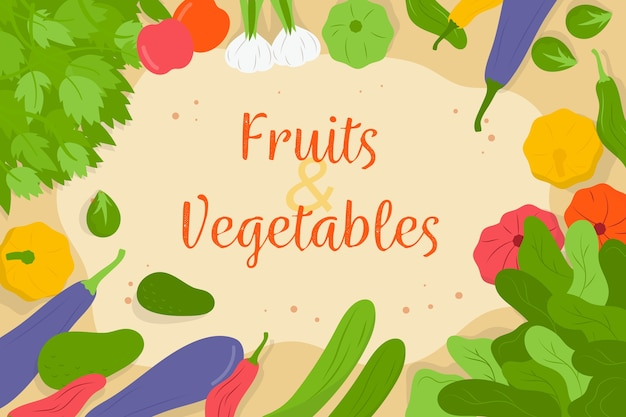 Molteplici sfondo di frutta e verdura