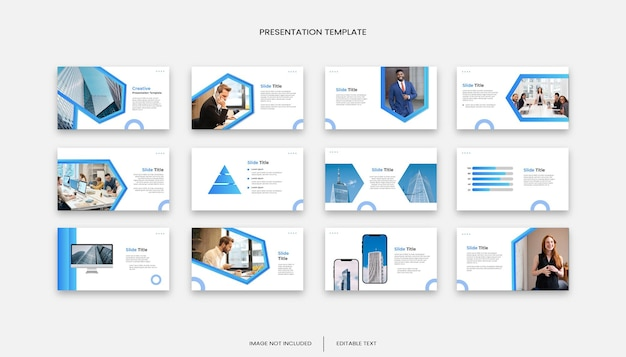 多目的ビジネス12スライドプレゼンテーションテンプレート