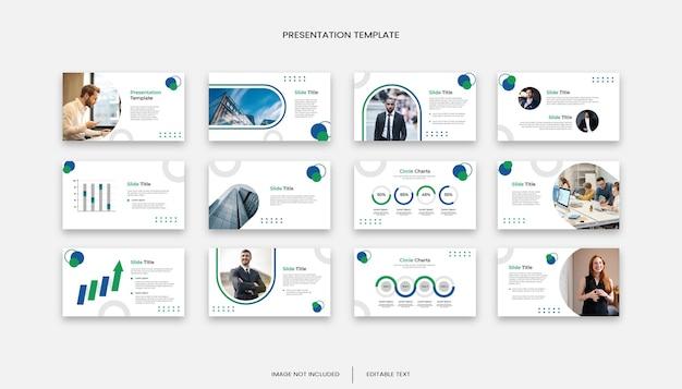 多目的ビジネスクリエイティブ12スライドプレゼンテーションテンプレート