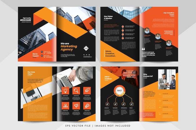 多目的ビジネスプレゼンテーション、会社概要レイアウトテンプレート。企業のビジネス小冊子テンプレート。