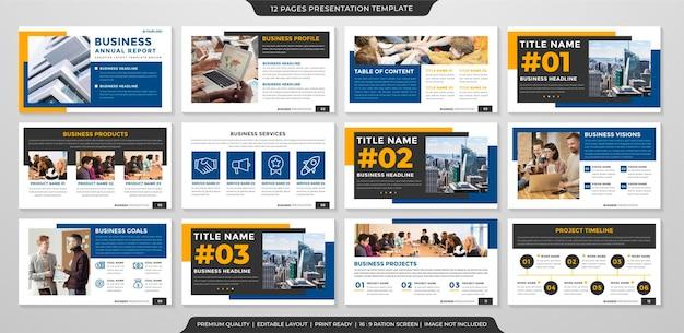 Multipurpose business presentation template design