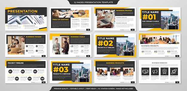 Multipurpose business presentation template with clean style and modern concept use for business infographic and annual report