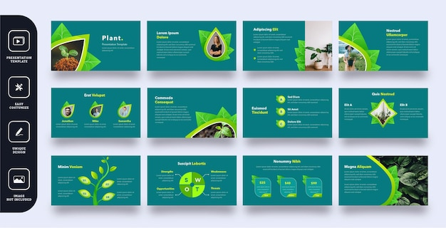 Multipurpose business slide presentation template 12 pages