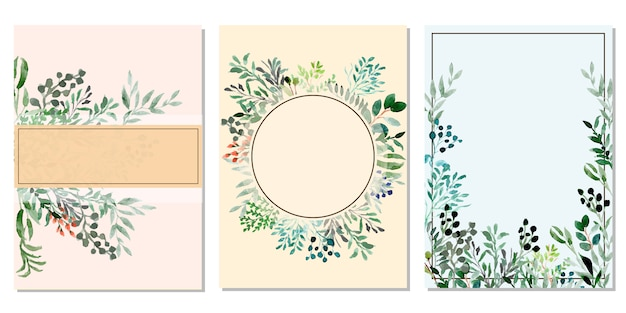 Multipurpose card with floral watercolor background