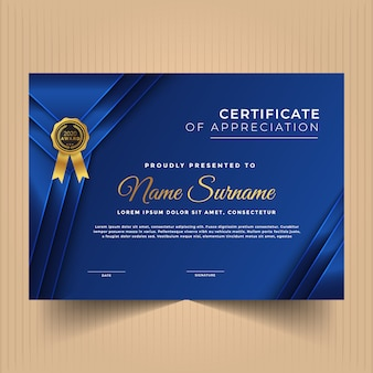Multipurpose certificate design template