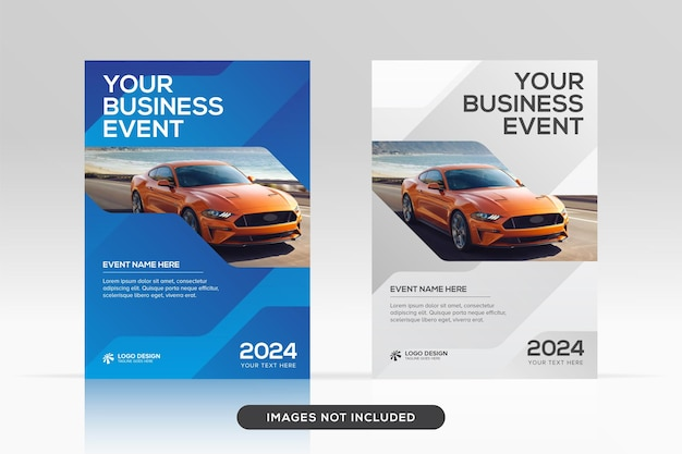 Multipurpose corporate book cover design template in a4 format premium vector mockup
