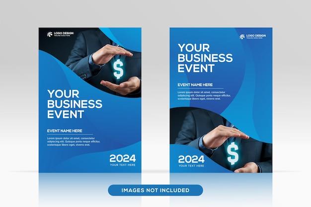 4 형식 프리미엄 벡터 표지 모형의 다목적 기업 책 표지 디자인 템플릿
