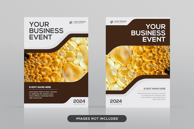 A4形式のプレミアムベクトルモックアップの多目的企業ブックカバーデザインテンプレート