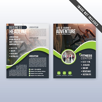 Multipurpose cover and flyer template