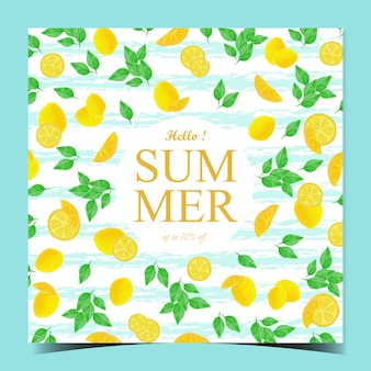 Multipurpose digital watercolor summer