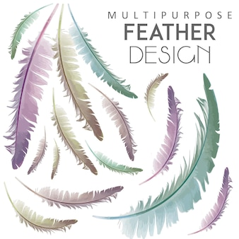 Multipurpose feather design