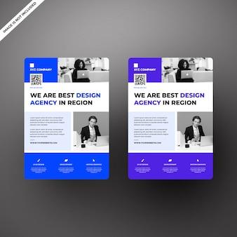 Многоцелевой плоский флаер для дизайн-агентства