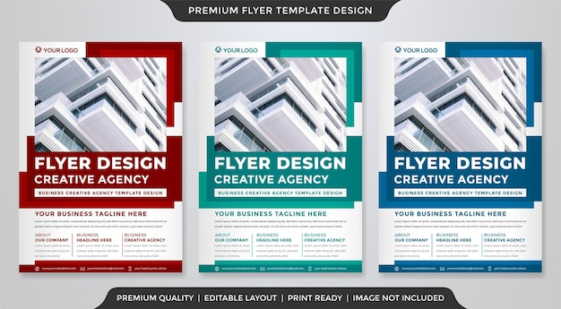 Multipurpose flyer design with modern style and abstract layout