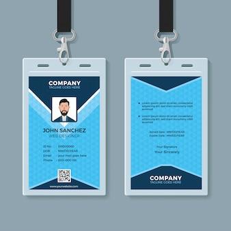 Multipurpose identity card design template