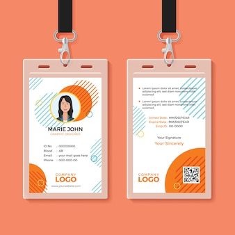 Id cards vectors photos and psd files free download for Id badge template free