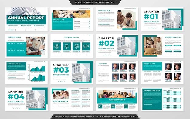 Multipurpose presentation layout concept template premium vector