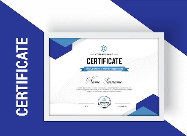 Multipurpose professional certificate design template premium