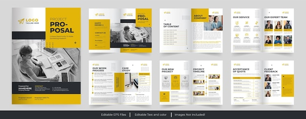 Multipurpose project proposal or business proposal template design